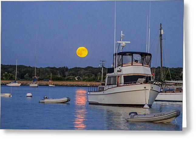 Moonrise Vineyard Haven Greeting Card