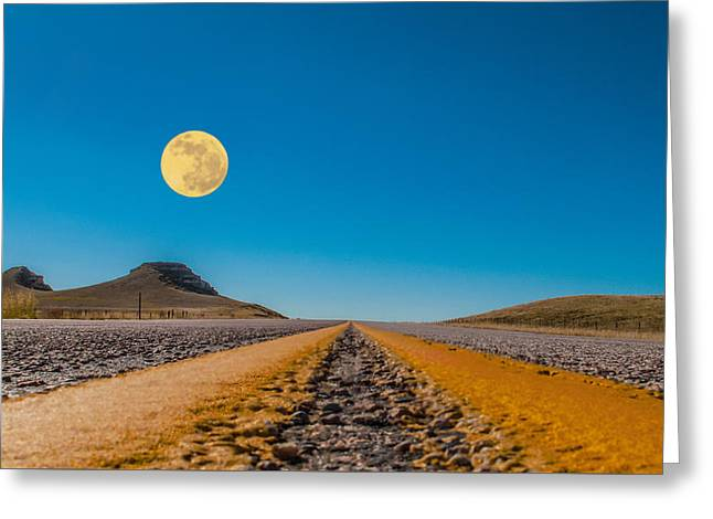 Moonrise Wyoming Greeting Card