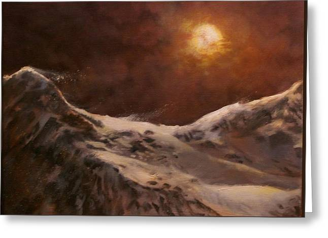 Moonscape Greeting Card by Tom Shropshire