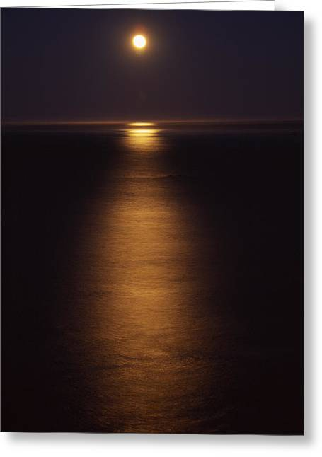 Moonset - Hwy 1 Greeting Card by Soli Deo Gloria Wilderness And Wildlife Photography
