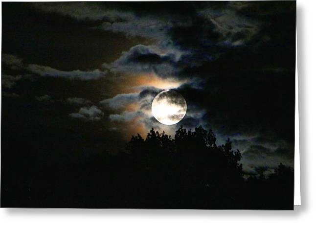 Moonset In The Clouds 2 Greeting Card
