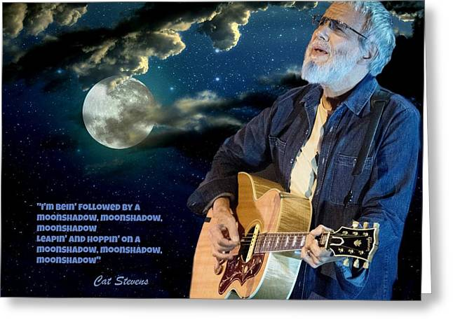 Moonshadows Greeting Card by John Malone