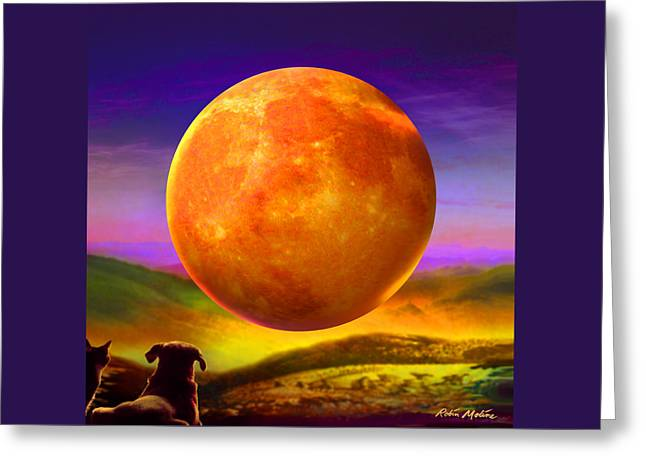 Moonshine Forever Greeting Card by Robin Moline