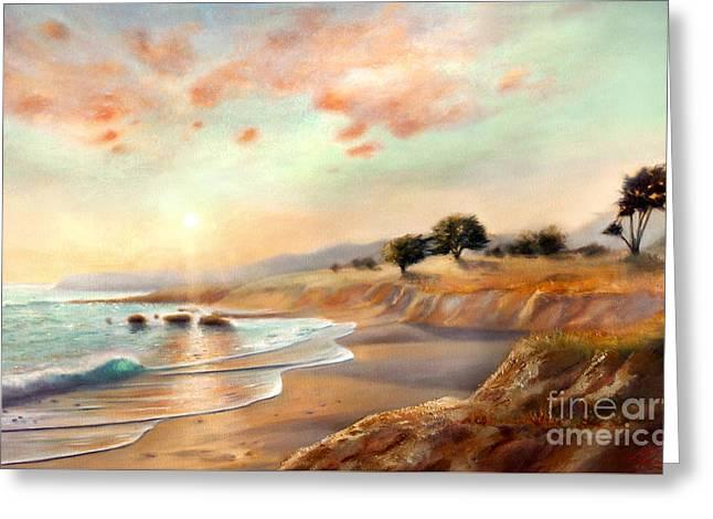 Moonstone Beach California Greeting Card by Michael Rock