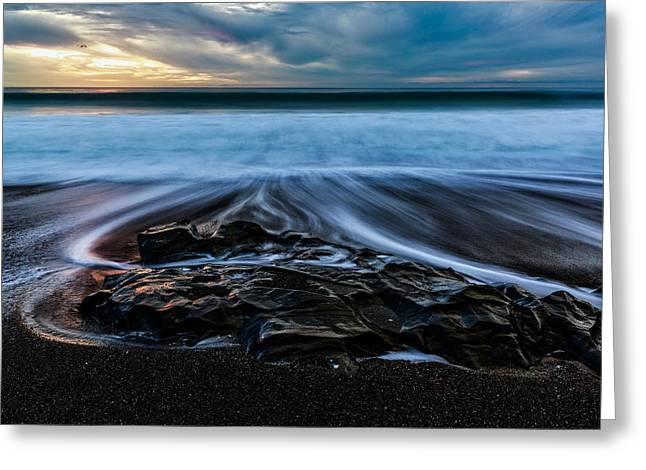 Moonstone Beach In The New Year Greeting Card
