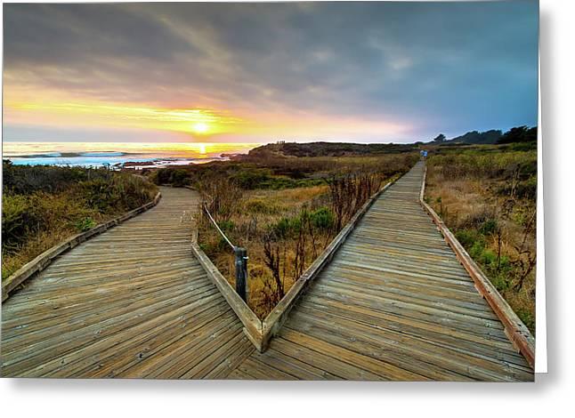 Moonstone Beach Path Greeting Card