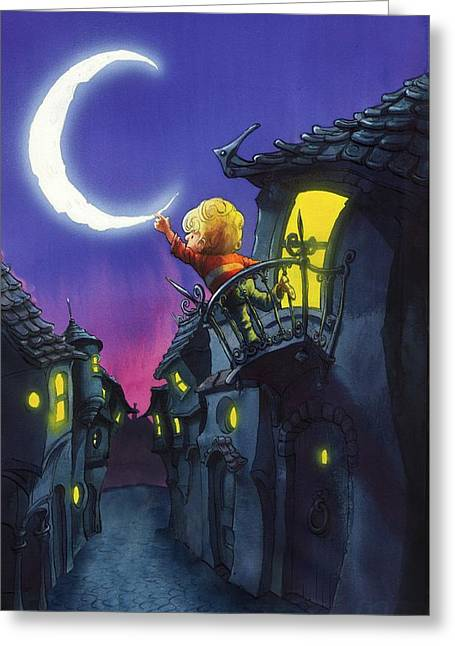 Moonthief Greeting Card