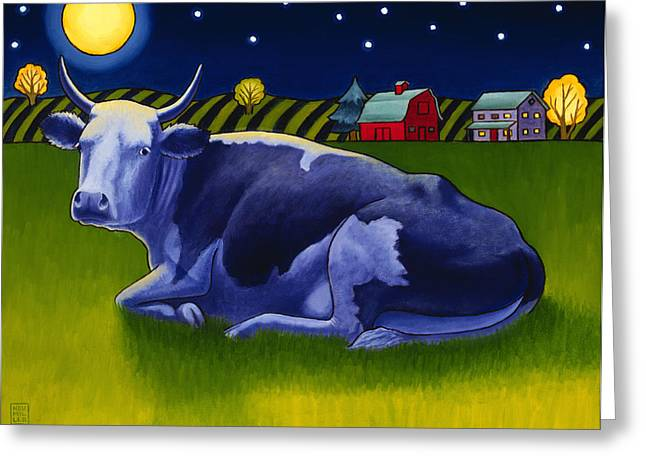 Mooonlight Greeting Card by Stacey Neumiller