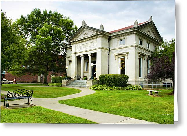 Moore Memorial Library - Greene Ny Greeting Card by Christina Rollo