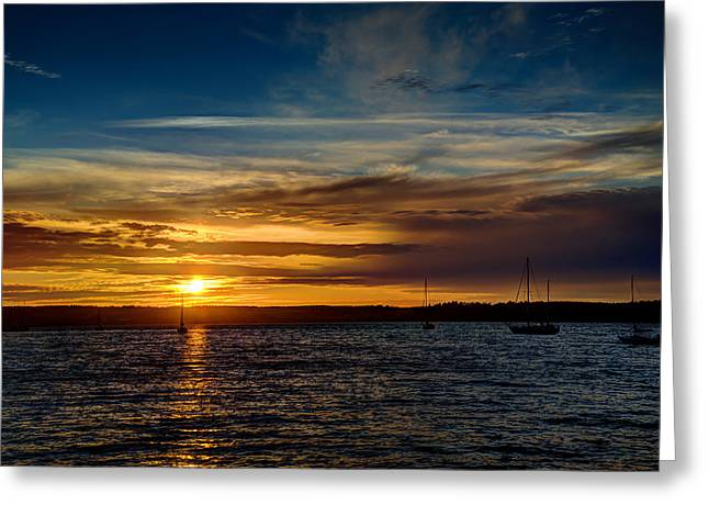 Moored At Penn Cove  Greeting Card by TL  Mair