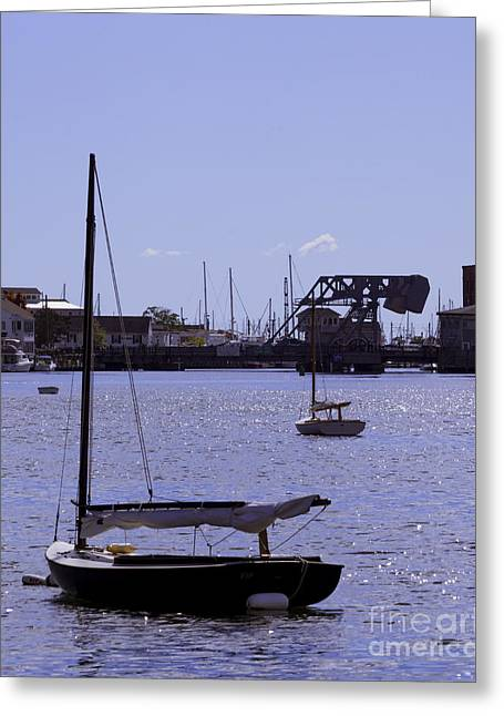 Moored In Mystic Greeting Card