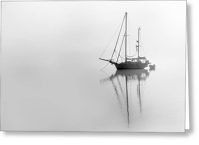 Moored On A Foggy Day Greeting Card