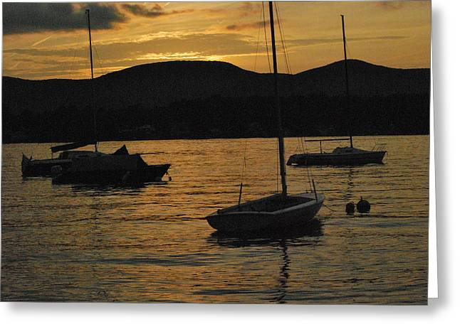 Moored Greeting Card by Peter Williams