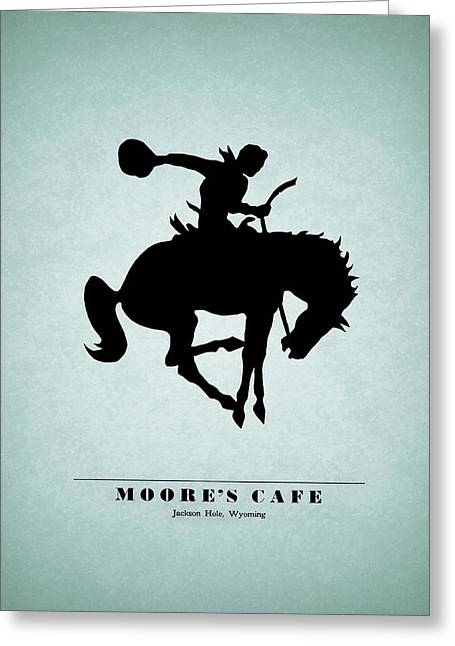 Moores Cafe Wyoming 1946 Greeting Card by Mark Rogan