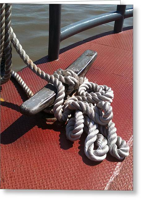 Mooring Rope Greeting Card