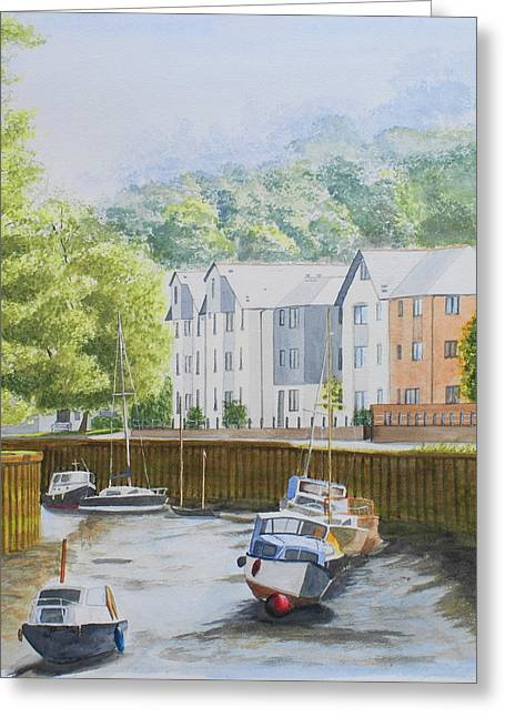 Moorings At Totnes Greeting Card