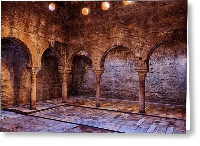 Moorish Baths Granada Greeting Card by Joan Carroll