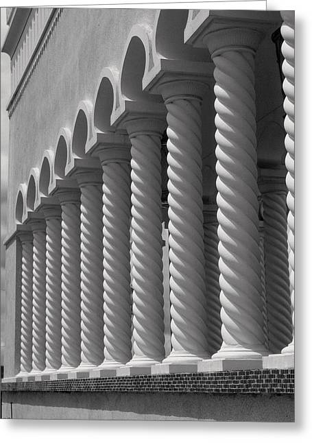 Moorish Pillars Spain Greeting Card by Douglas Pike