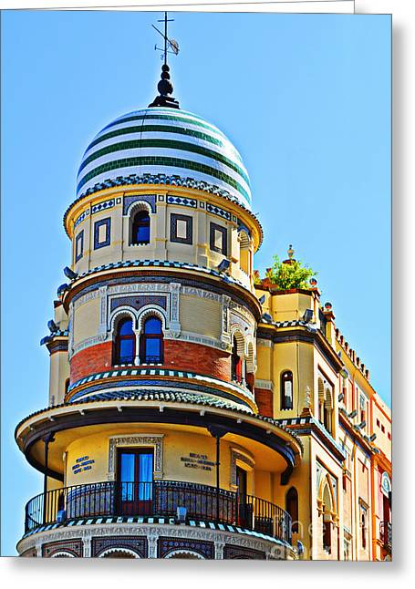 Moorish Tower With Hdr Processing Greeting Card by Mary Machare