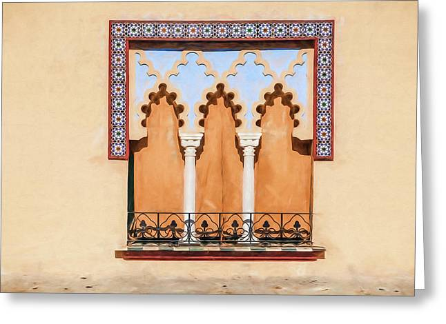 Moorish Window II Greeting Card