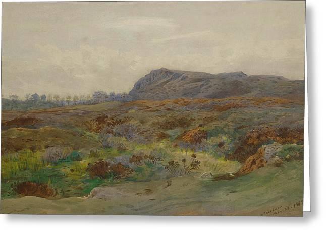 Moorland Landscape By Thorburn Greeting Card
