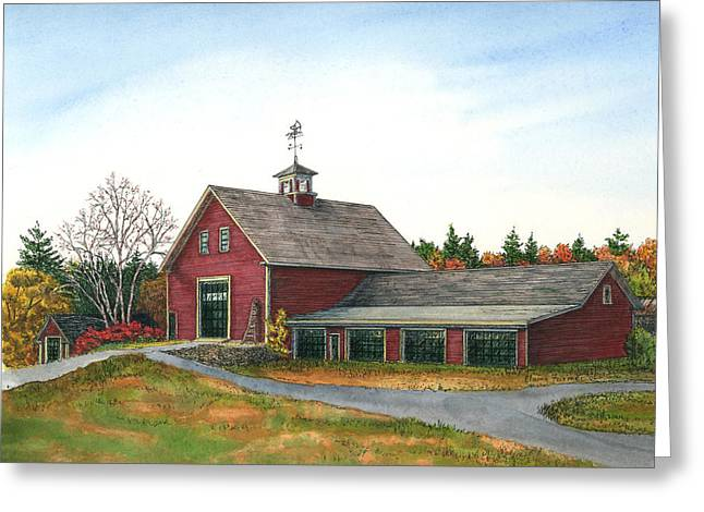 Moose Hill Barn, Mack's, Londonderry, Nh Greeting Card