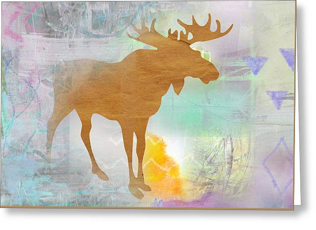 Moose In The Fog  Greeting Card