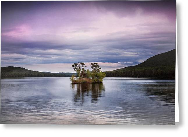 Moose Pond Maine Greeting Card