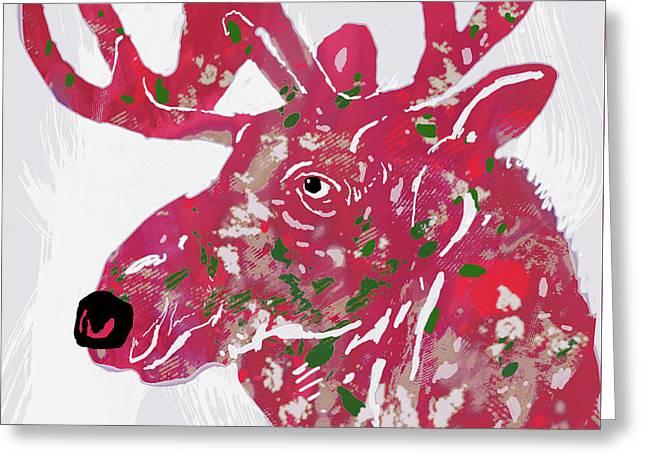 Moose - Pop Art Poster Greeting Card