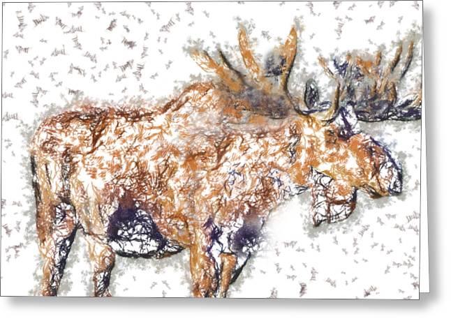 Moose-sticks Greeting Card