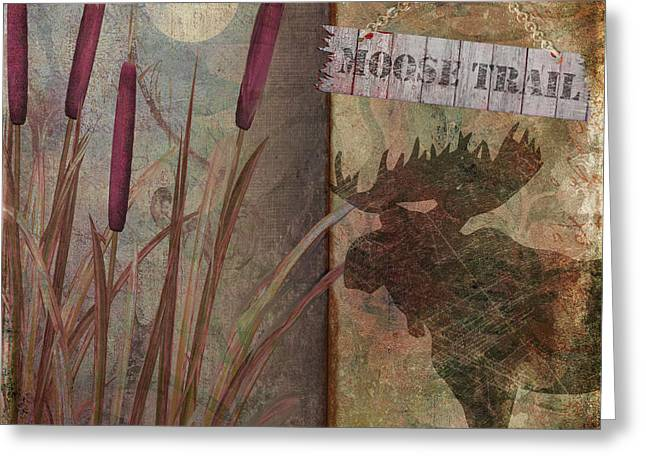 Moose Trail Greeting Card by Mindy Sommers