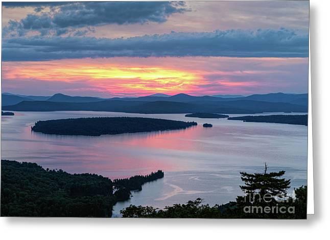 Mooselookmeguntic Lake In The Last Light Of Day - Rangeley Me  -63430 Greeting Card