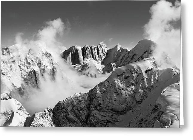 Moose's Tooth Massif Greeting Card by Bob Faucher