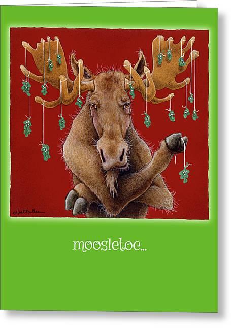 Moosletoe... Greeting Card