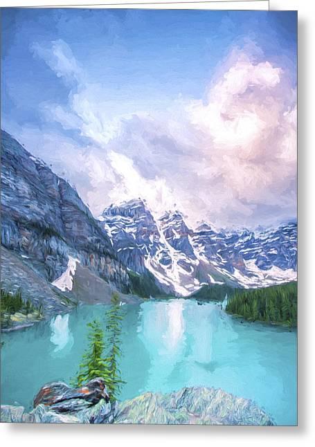 Moraine Cloud Bursting II Greeting Card by Jon Glaser