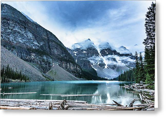 Moraine Lake Blues Greeting Card by Monte Arnold