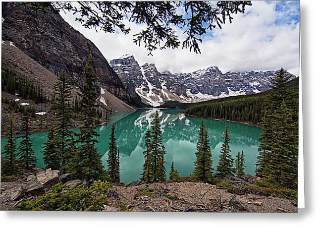 Greeting Card featuring the photograph Moraine Lake by Joe Paul