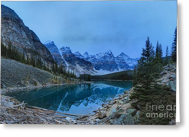 Mountain Valley Greeting Cards - Moraine Lake Reflections Greeting Card by Adam Jewell