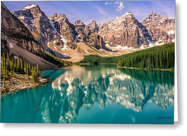 Moraine Lake Valley Of The Ten Peaks Greeting Card