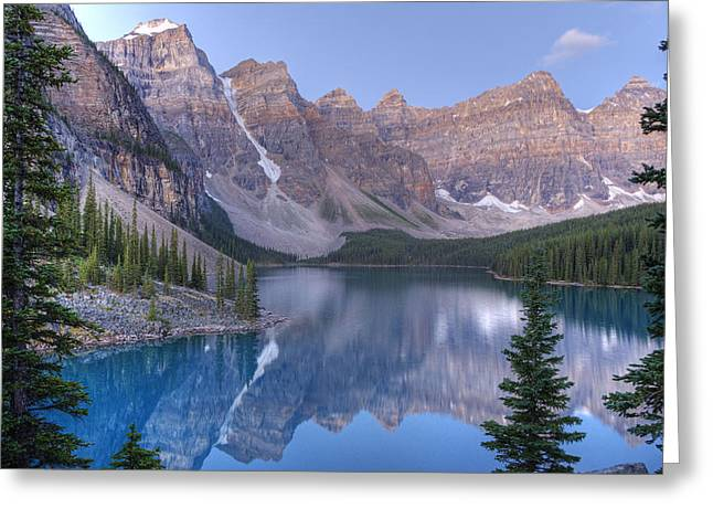 Moraine Lake - Valley Of The Ten Peaks Greeting Card