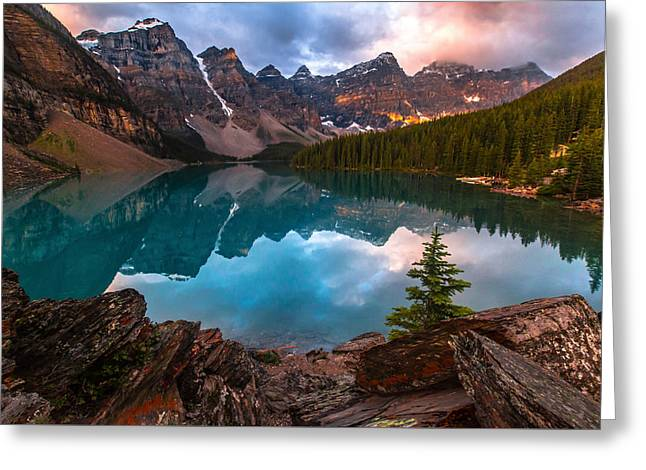 Moraine Mornings  Greeting Card