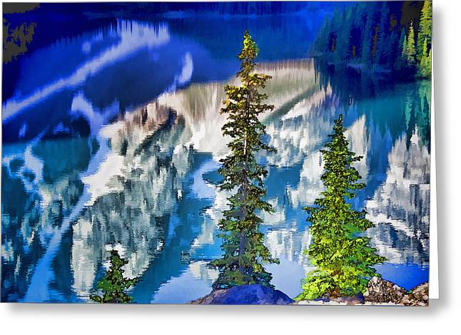 Moraine Reflections Greeting Card by Dennis Cox WorldViews