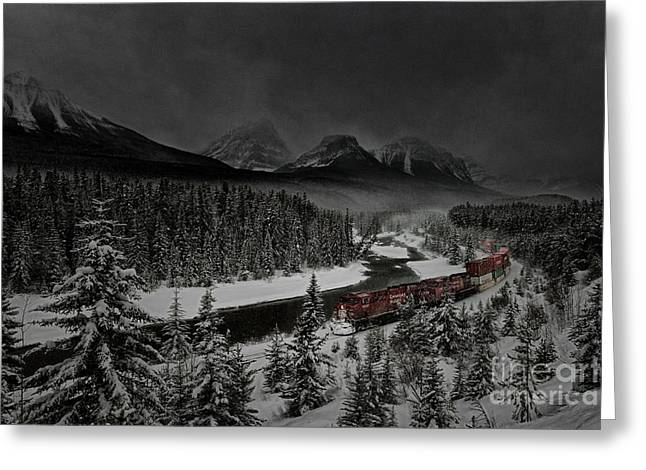 Greeting Card featuring the photograph Morant's Curve At Night by Brad Allen Fine Art
