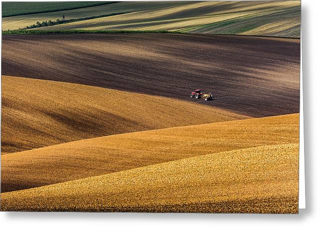 Moravian Fields Greeting Card by Marek Biegalski