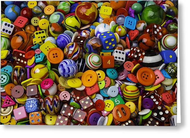 More Beautiful Marbles Greeting Card by Garry Gay
