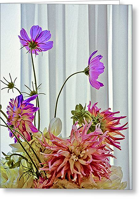 More Formal Flowers Greeting Card by John Toxey