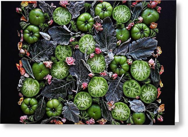 More Green Tomato Art Greeting Card
