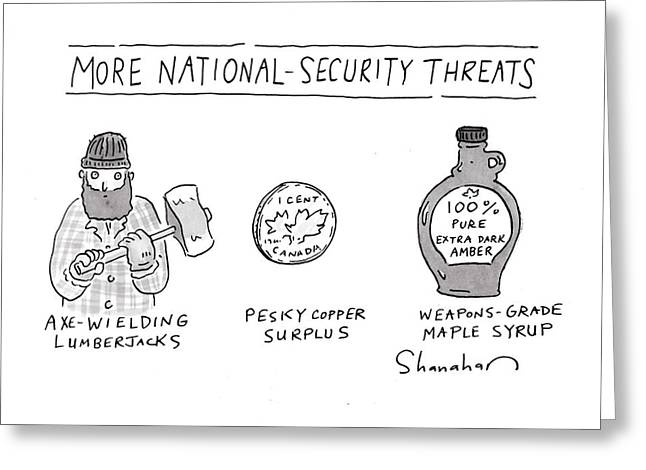 More National-security Threats Greeting Card