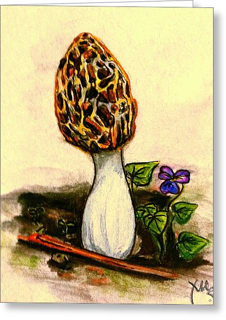 Morel Study Greeting Card