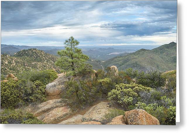 Greeting Card featuring the photograph Morena Valley And Los Pinos Mountain by Alexander Kunz